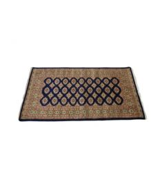 Bukhara Hand Knotted Silk Wool Rug 37 x 68 inches