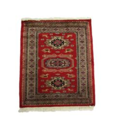 Kavkaz Accent Hand Knotted Silk Wool Rug 25 x 30 inches