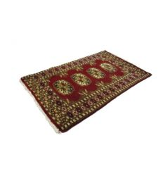 Mori Bukhara Accent Hand Knotted Wool Rug  22 x 36 inches
