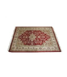 Persian Hand Knotted Silk Wool Rug 48 x 64 inches