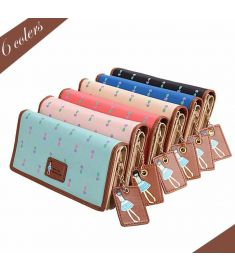 Fashion Lady Women Synthetic Leather Clutch Wallet