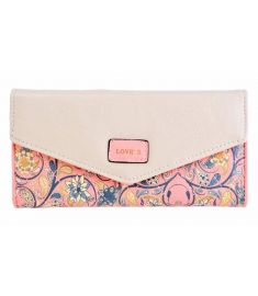Women Synthetic Leather Print Envelope Card Holder Long Wallet Purse
