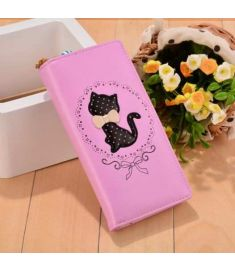 New Women 3 Colors PU Leather Animal Print Bifold Zipper And Hasp Casual Long Clutch Wallet
