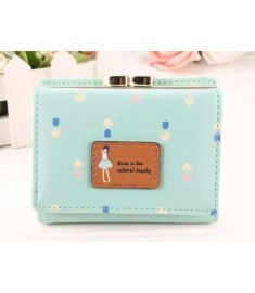 Korean Fashion Women Lady's Tote Portable Floral Printed Small Card Holder