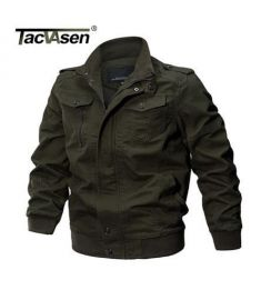 TACVASEN Military Jacket Men Winter Cotton Jacket Coat Army Men's Pilot Jacket Air Force