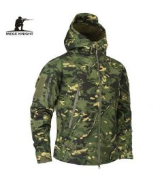 Mege Brand Clothing Autumn Men's Military Camouflage Fleece Jacket Army