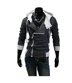 Casual Cardigan Men Hoodie Sweatshirt Long Sleeved Slim Fit Male Zipper Hoodies