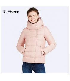 Slim Short Coat Bio Down Jacket Winter Double Breasted Women's Cotton