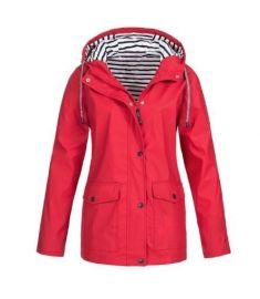 Casual Autumn Winter Hiking Jackets Women Ladies Rain Jacker Outdoor Rain Coat Zipper