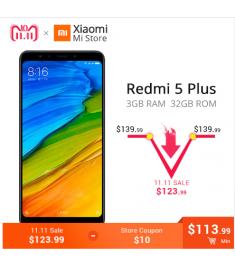 "Global ROM Xiaomi Redmi 5 Plus 3GB RAM 32GB ROM Mobile Phone 5.99"""