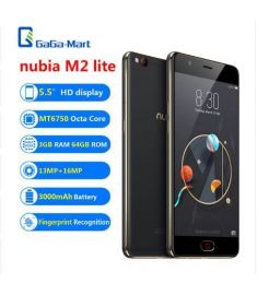 "Original ZTE nubia M2 lite 4G Mobile Phone 5.5"" MT6750 3GB+64GB 13MP+16MP 3000mAh Fingerprint Recognition Smartphone Black &Gold"