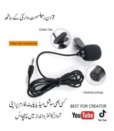 Mini Collar Mic The Experts Microphone For Creators 3.5mm Jack