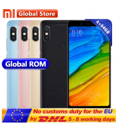 "Original Xiaomi Redmi Note 5 4GB RAM 64GB ROM Snapdragon S636 Octa Core Mobile Phone MIUI9 5.99"" 2160*1080 4000mAh"