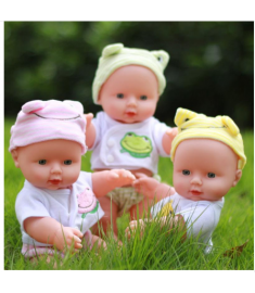 Newborn Reborn Doll Baby Simulation Soft Vinyl Dolls Children Kindergarten Lifelike Toys for Girls