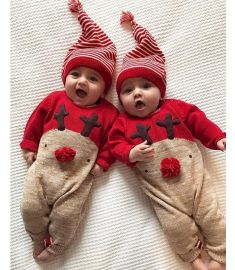 Christmas Baby Clothing Baby Boy Long Sleeve Fall Romper Patchwork Jumpsuit