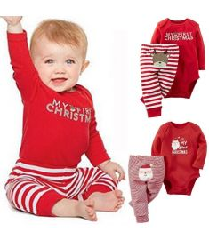 Newborn Baby Girls Boys clothes 2pcs Tops long sleeve