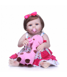 Reborn Dolls Babies Full Body Silicone Vinyl Bebe Christmas Gift For Girls Realistic Children Toy
