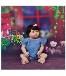 New Arrival 23'' 57cm Baby Girl Doll Full Silicone Body Lifelike Bebe Reborn Bonecas Handmade Baby Toy
