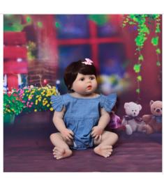 New Arrival 23'' 57cm Baby Girl Doll Full Silicone Body Lifelike Bebe Reborn Bonecas Handmade Baby Toy