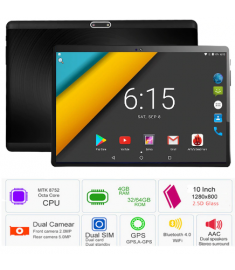 10 inch Tablet PC 3G 4G LTE Octa Core Android 7.0 OS 4GB RAM 64GB ROM 5.0MP 2.5D Tempered Glass Android Tablet 10.1