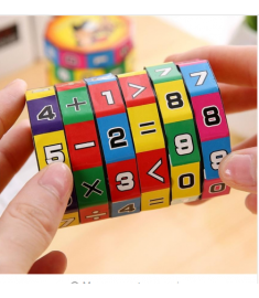 New Arrival Slide puzzles Mathematics Numbers Magic Cube Toy Children Kids Learning