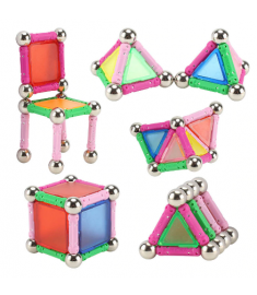Magnet Toy Bars Metal Balls Magnetic Kids Toys Sticks Construction Toys