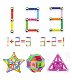 Magnet Toy Bars & Metal Balls Magnetic Building Blocks Construction Toys