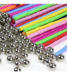 Magnet Bars Metal ball Magnetic Designer Building Blocks Construction Toys