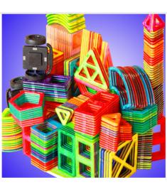Magnetic Blocks Triangle Square Bricks Magnetic Designer Construction Toys