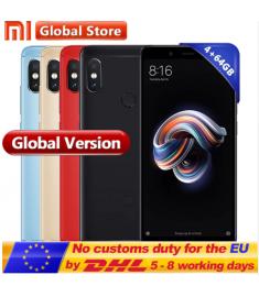 "Original Global Version Xiaomi Redmi Note 5 4GB 64GB Snapdragon S636 Octa Core Mobile Phone 5.99"""