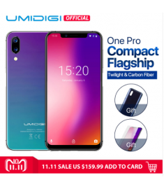 "UMIDIGI One Pro Global Band 5.9"" Android 8.1 mobile phone wireless charge 4GB 64GB P23 Octa Core"