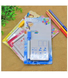 Kids Mathematics Kindergarten Teaching Erasable Card with Pen Reusable Preschool Learning Tools