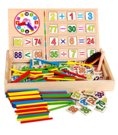 Wooden Baby Math Toys Arithmetic Educational Math Toy with Box