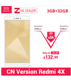 "Original Xiaomi Redmi 4X 3GB RAM 32GB ROM Mobile Phone Snapdragon 435 Octa Core 5.0"" 4100mAh"