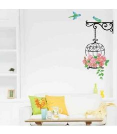 Birdcage Wallpaper For Kids Rooms Vinyl Wall Stickers