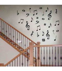 Music Notes Wall Stickers Vinyl Decoration