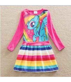 Retail Baby girl dress my little pony summer cotton child dress girl wear kid clothes children dress baby girl clothes SH6218