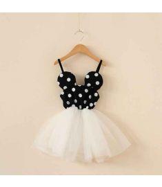 Free shopping 2016 New summer dress Minnie Mouse Dress girls clothes printing dot sleeveless dress dress girl fashion
