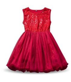 Summer Girl Sequins Robe Fille Enfant Kids Birthday Outfits Tulle Children Toddler Girl Clothes Baby Kids School Dress Vestidos