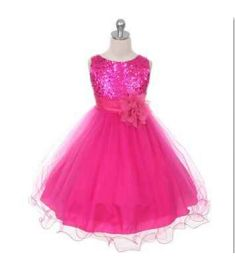 Christmas Girls Dresses,Baby Girls sequins Flowers Princess Party Dresses,Baby Girls clothes Sleeveless Vestidos for New Year