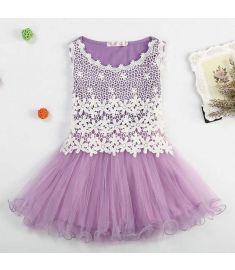 2017 Summer style girl dresses for 2-12 years Princess Party Kids clothes Child's wear toddler tutu baby girls dress with lace