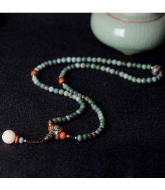Coco nut Chinese wind Buddha jewelry vintage bracelet,new Aventurine Quartz bracelet,handmade Flower Fort Dzi Beads bracelet