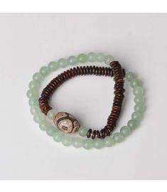Chinese wind Buddha ethnic jewelry vintage bracelet,new Aventurine Quartz bracelet,handmade copper Flower Day Beads bracelet