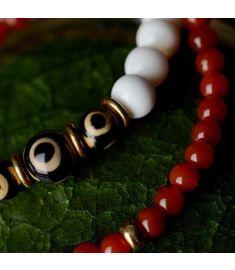Nature shell nature agate Chinese wind jewelry vintage tridacna bracelet ,new Lover ethnic bracelet,handmade Day Beads bracelet