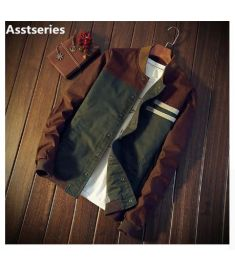 Asstseries Autumn Korean men's Cultivate one's morality short paragraph color