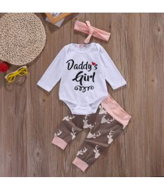 pudcoco Newborn Infant Early Clothes Set Tops Pants 3pcs