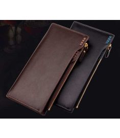 Genuine+PU Leather Wallet Purse Money Clips,Multfunctional Long Design Man wallet