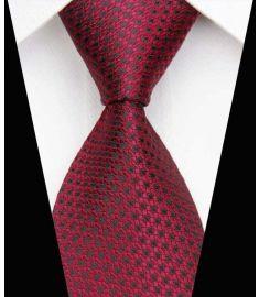 Dot Stripe Classic 100% Silk Neck Tie Design 14