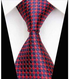 Dot Stripe Classic 100% Silk Neck Tie Design 18
