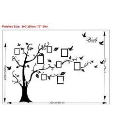 Large 200*250Cm/79*99in Black 3D DIY Photo Tree Wall Decor